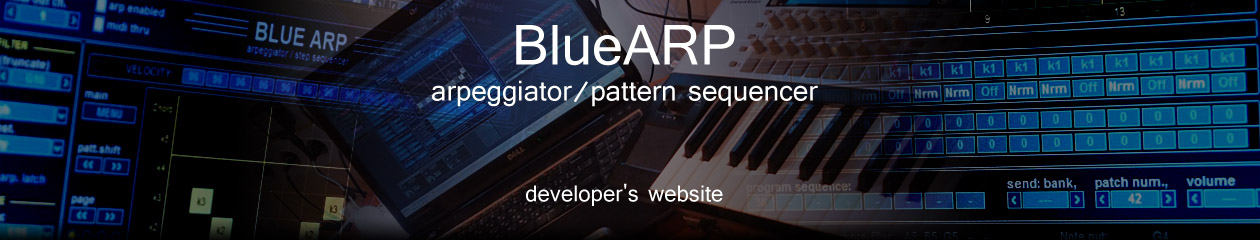 BlueARP – arpeggiator / pattern sequencer